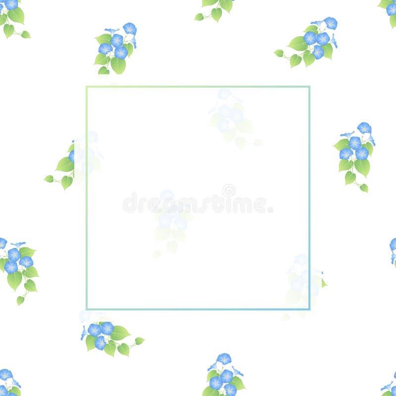 Manhã azul Glory Banner no fundo branco ilustração stock