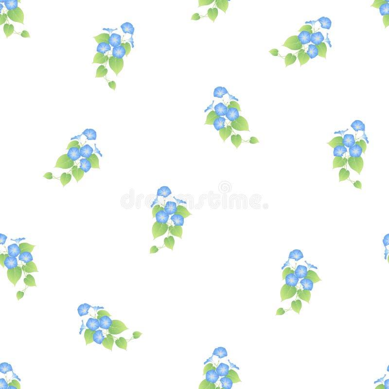 Manhã azul Glory Seamless no fundo branco ilustração royalty free
