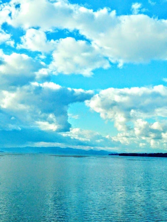 Manhã clara do oceano fotos de stock