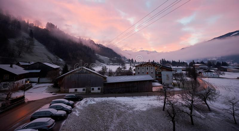 Manhã colorida, AUSTRIA/Stumm foto de stock