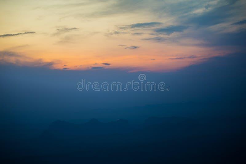 Manhã da nuvem imagens de stock