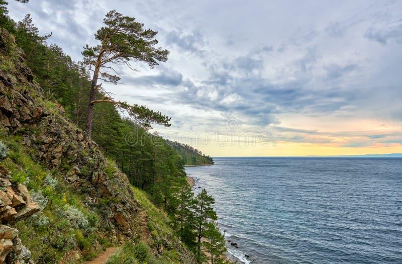 Manhã de julho no Lago Baikal imagem de stock