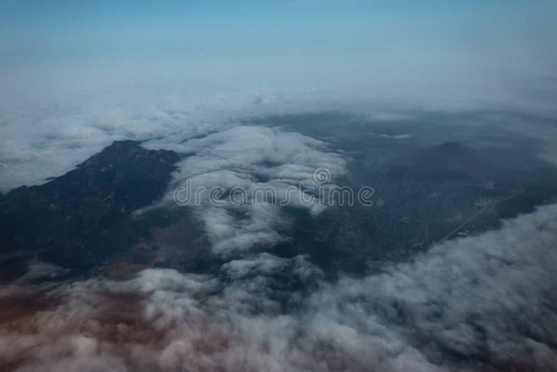 Manhã de Los Angeles do avião fotos de stock royalty free