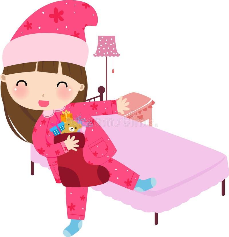 Manhã de Natal ilustração stock