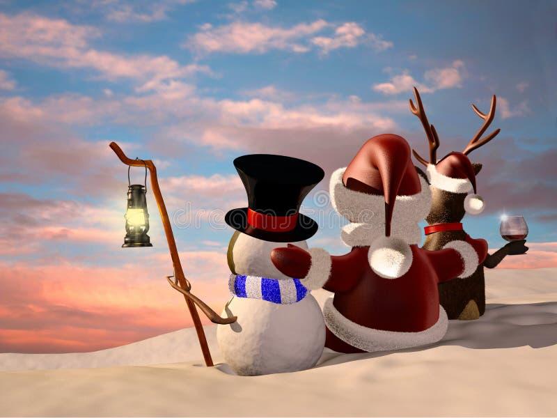 Manhã de Natal ilustração royalty free