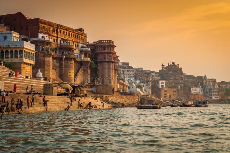 Manhã de Varanasi imagem de stock