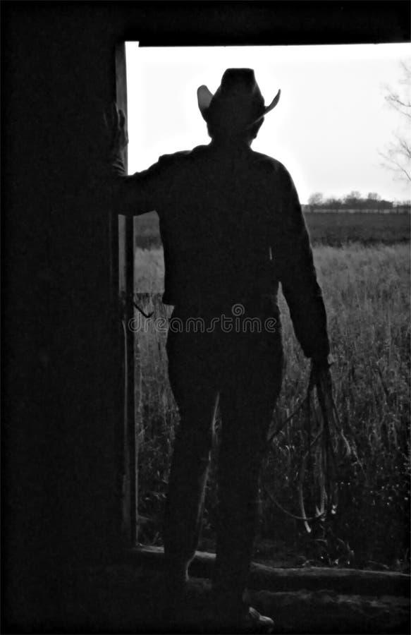 Manhã do cowboy fotos de stock