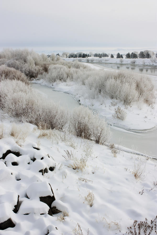 Manhã do inverno fotografia de stock