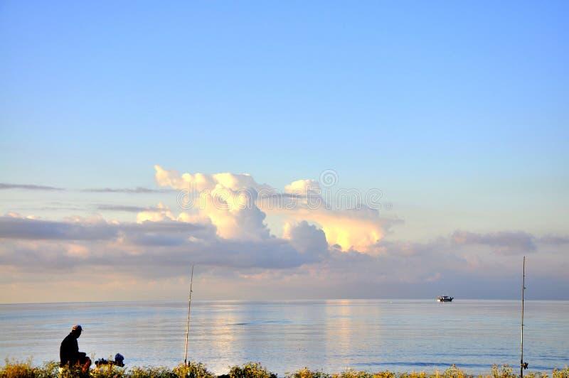 A manhã do Mar Egeu foto de stock
