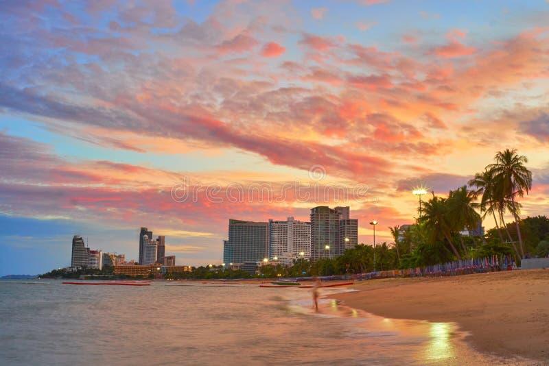 Manhã em Pattaya foto de stock