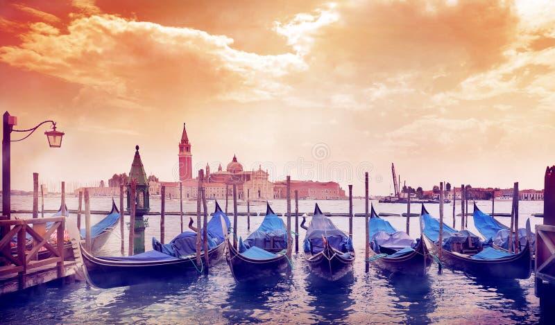Manhã ensolarada em Veneza foto de stock