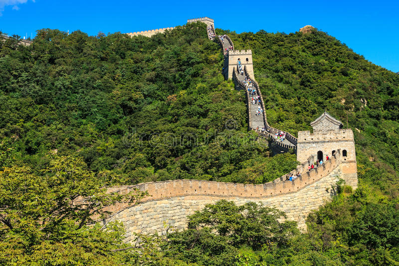 Manhã ensolarada no Grande Muralha em China fotos de stock royalty free