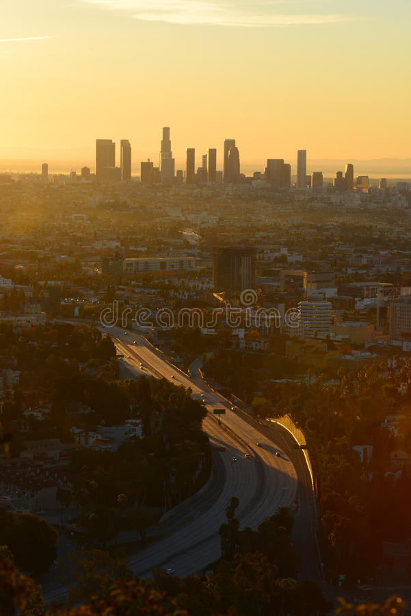 manhã Los Angeles imagem de stock