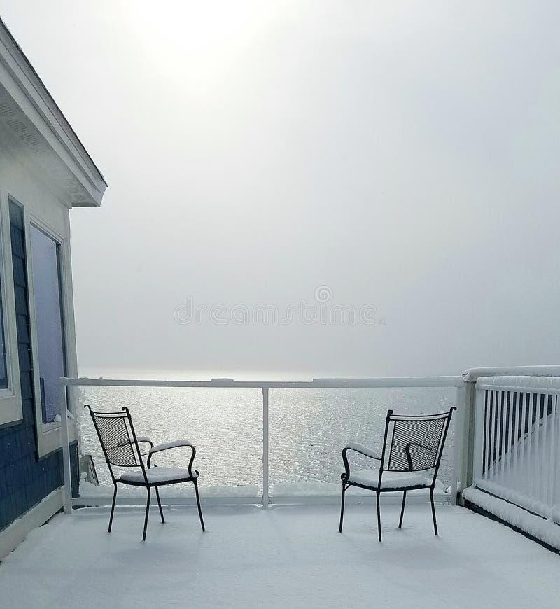 Manhã nevado foto de stock