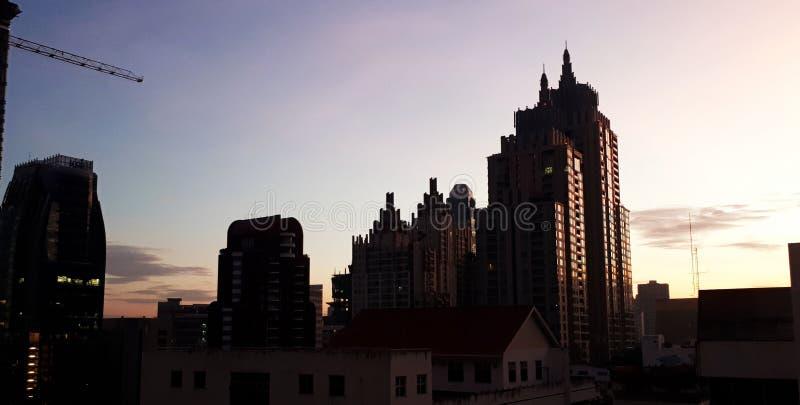Manhã no Bankok imagem de stock