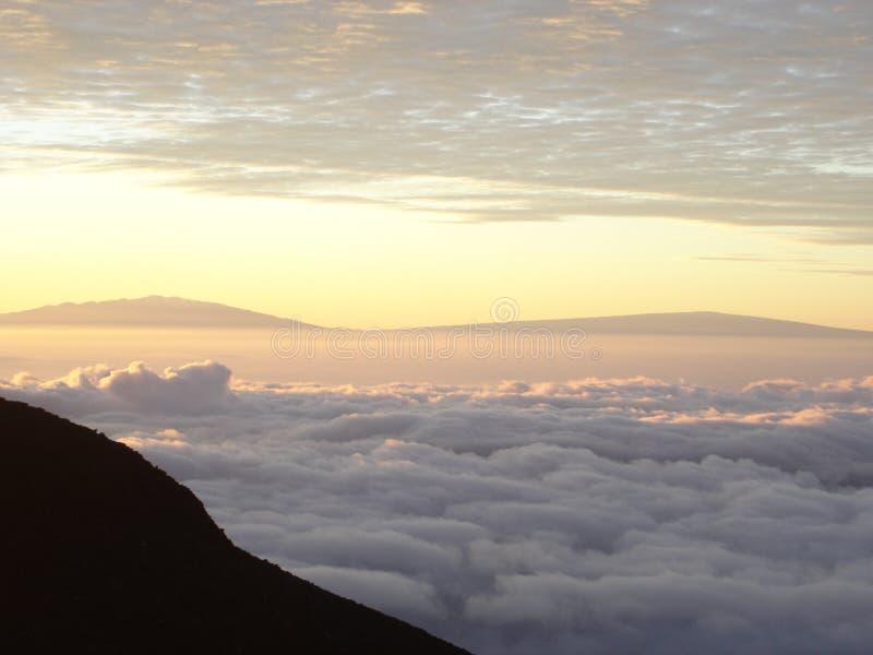 Manhã no vulcão imagem de stock royalty free