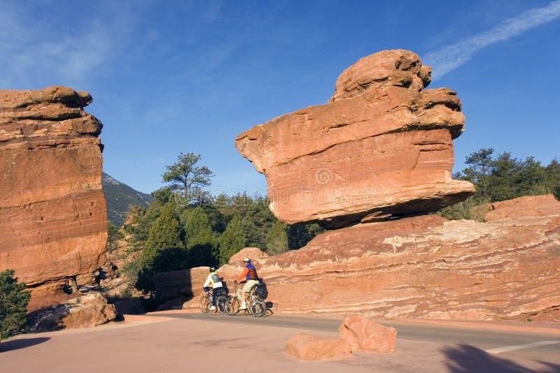 Manhã que biking no Colorado fotografia de stock royalty free