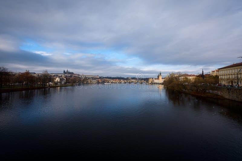 Manhã República Checa de Praga fotografia de stock