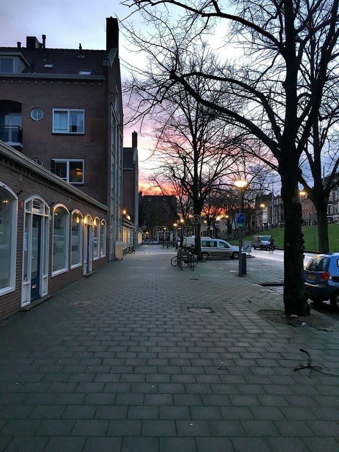 Manhã Rotterdam foto de stock