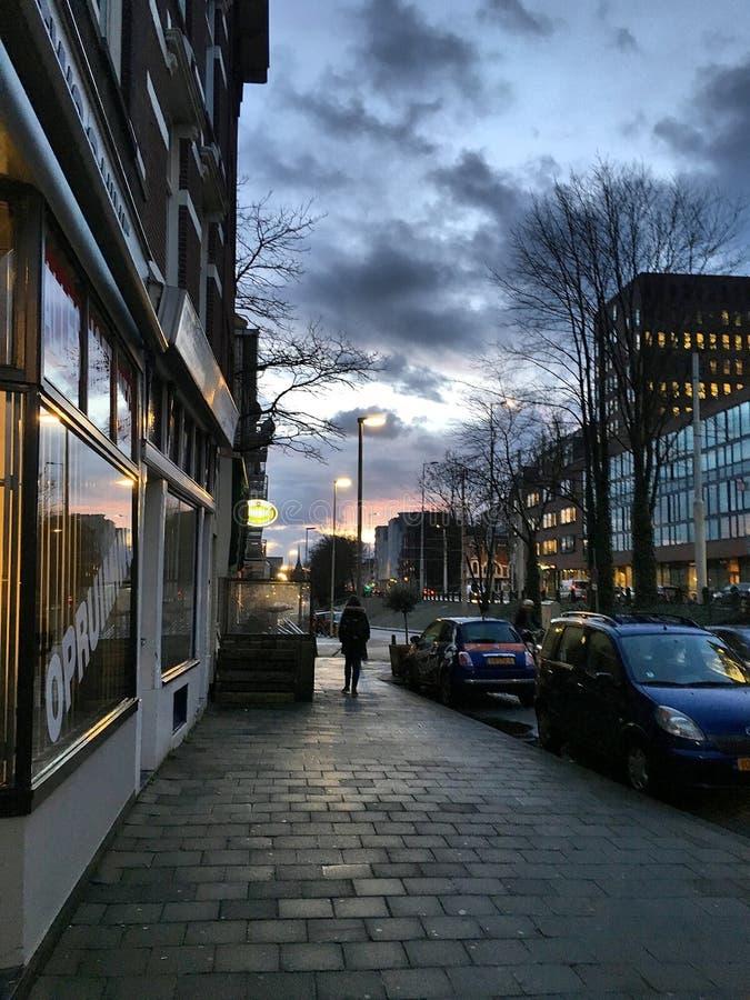 Manhã Rotterdam imagens de stock