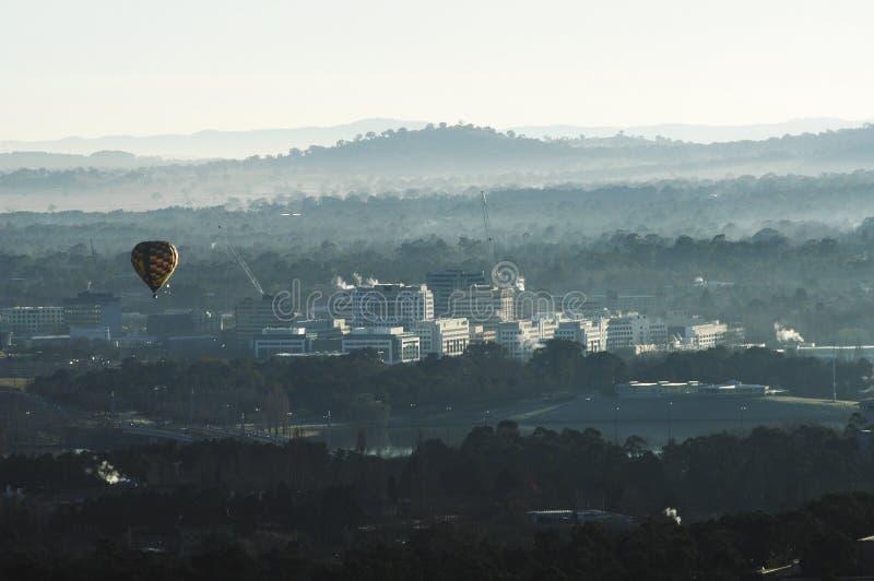 Manhã sobre Canberra fotos de stock