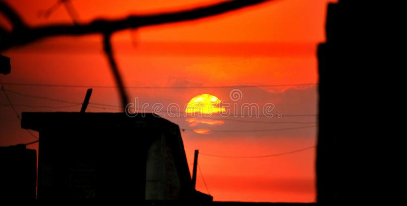 Manhã Sun fotografia de stock