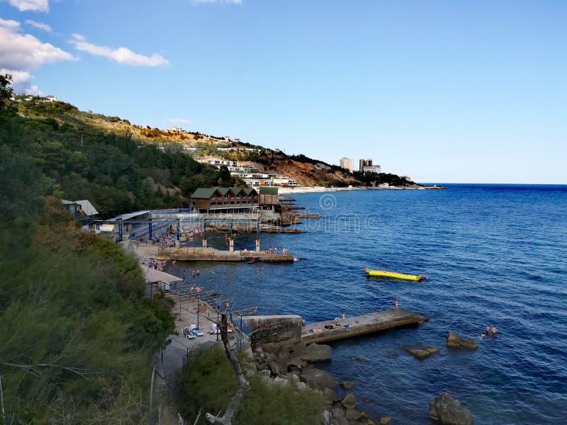 Manhã Yalta foto de stock royalty free