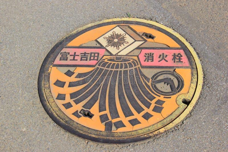 Manhål i Japan royaltyfri bild