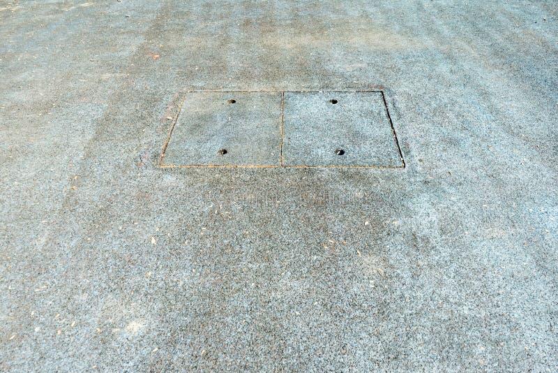Manhålräkning av den sanitära vandringsledet för avkloppdräneringrör royaltyfria foton