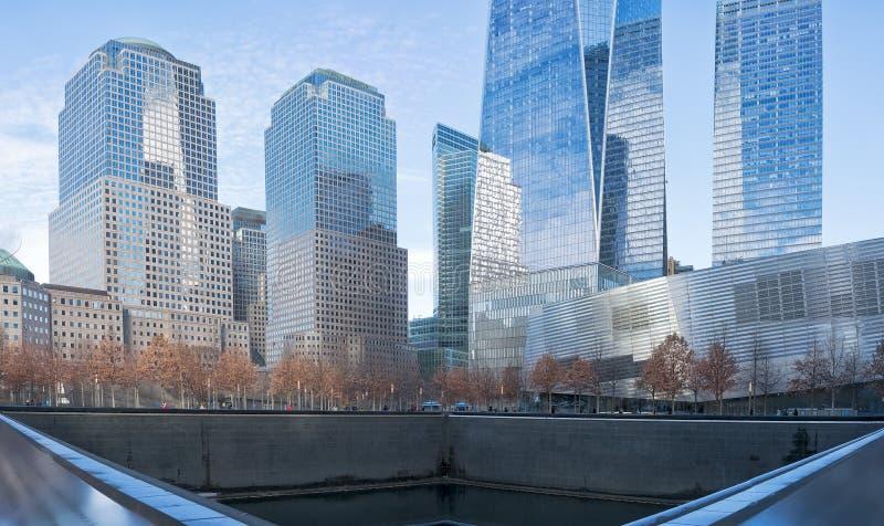 manhatan纽约的地平线  库存照片