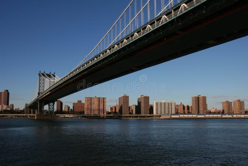Manhattan överbryggar i NYC royaltyfri bild
