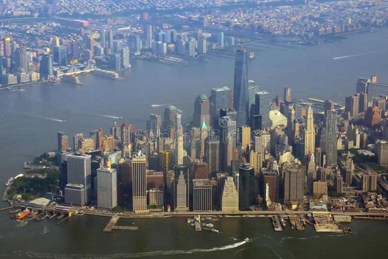 Manhattan aerial view royalty free stock images