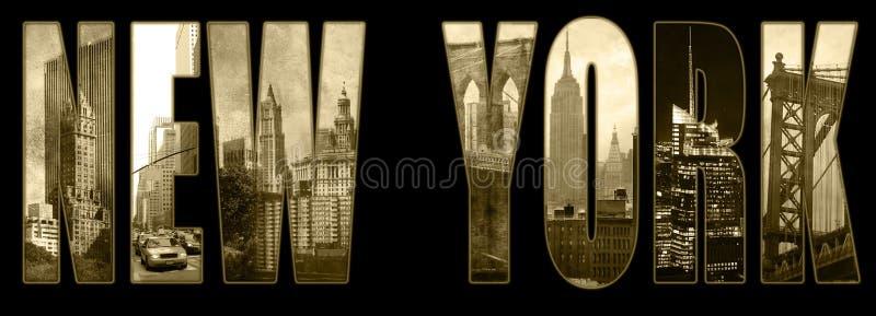 Manhattan-Ansichten über New York lizenzfreies stockfoto