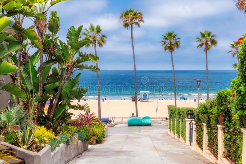 Manhattan Beach au temps de jour ensoleillé en Californie du sud à Los Angeles image stock