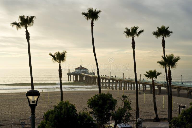 Download Manhattan Beach Pier Hazy Afternoon Stock Image - Image: 18320225