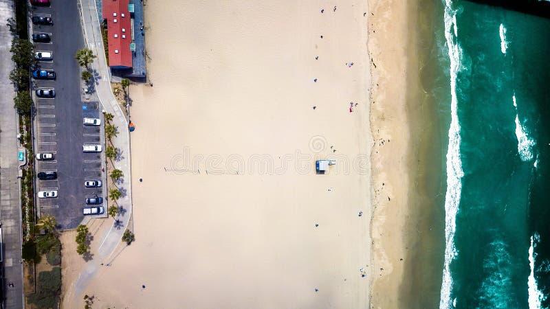 Manhattan Beach tramite fuco immagine stock