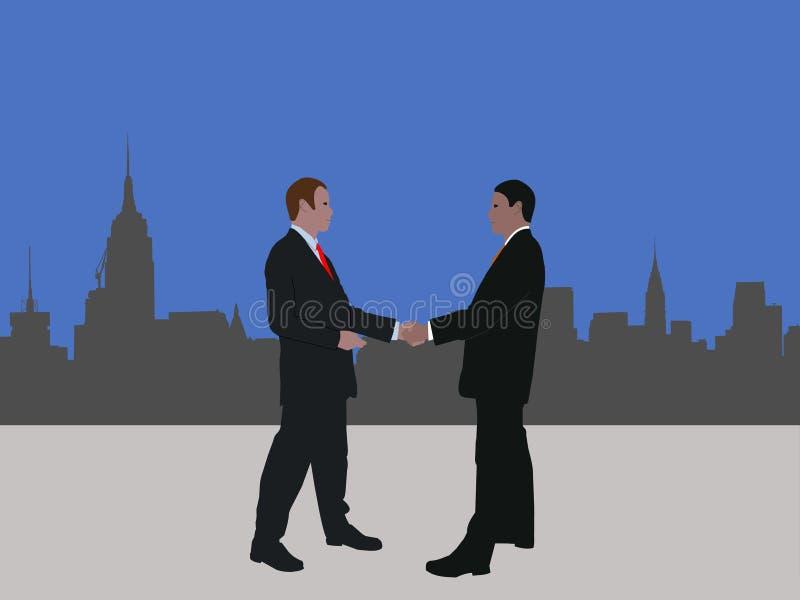 manhattan biznesowy spotkanie ilustracji