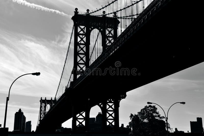 Manhattan-Brücke in Manhattan New York lizenzfreie stockfotos