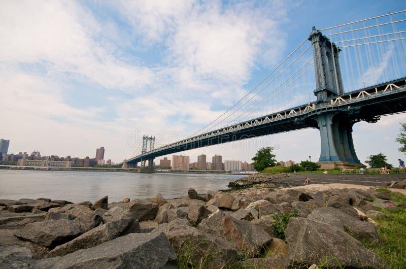 Manhattan-Brücke in New York lizenzfreie stockfotos