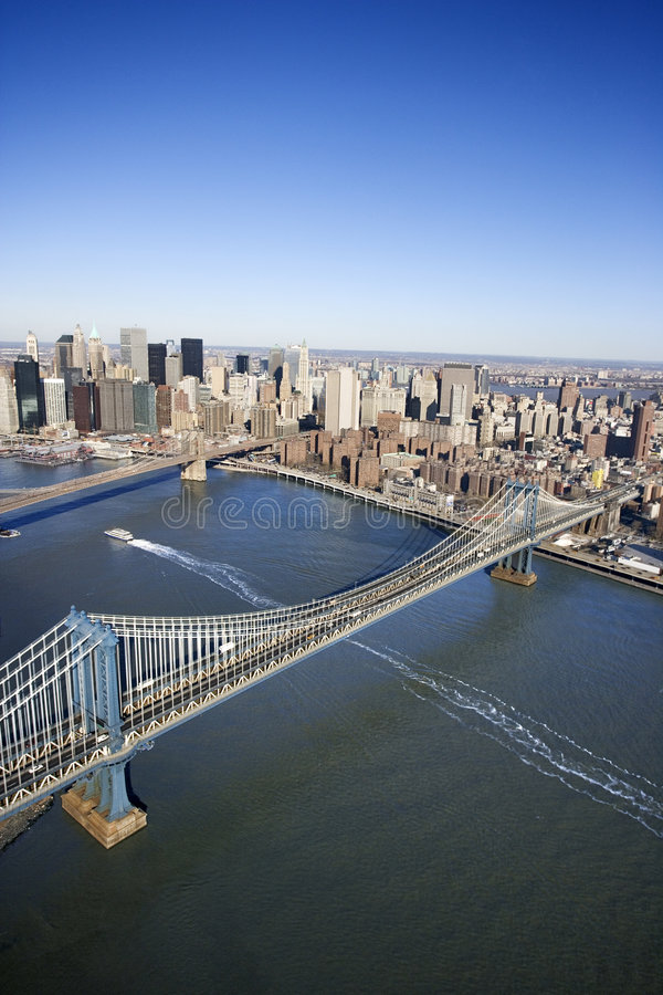Manhattan-Brücke, New York. lizenzfreies stockfoto