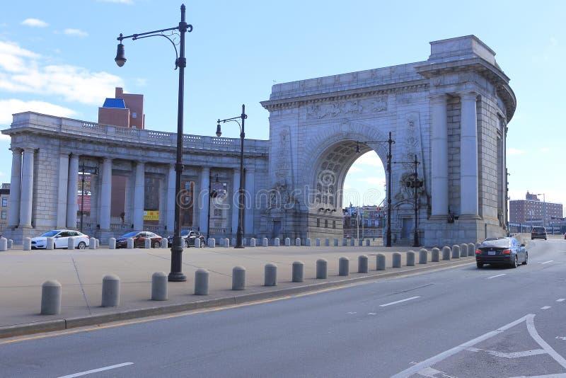 Manhattan-Brücke, New York lizenzfreies stockbild