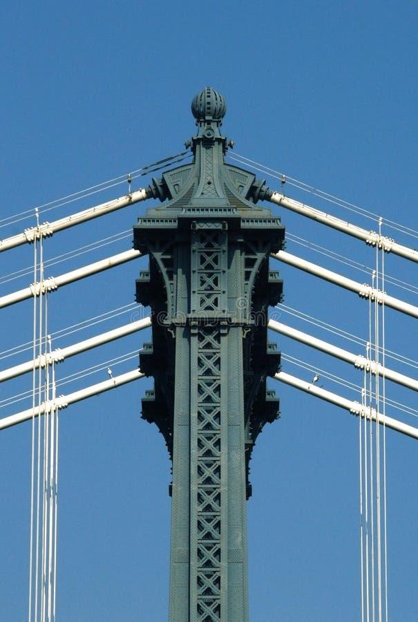 Manhattan-Brückendetail lizenzfreie stockfotografie