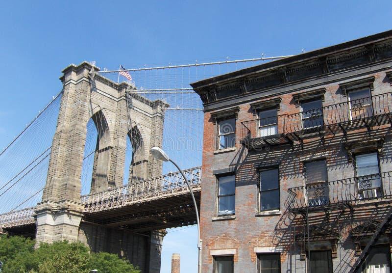 Manhattan Bridge. D.U.M.B.O., Brooklyn, NYC - Manhattan Bridge stock photography