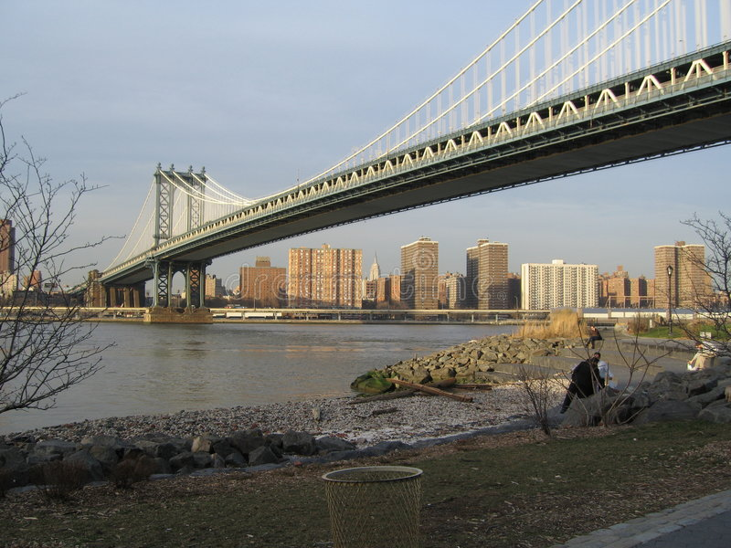 Manhattan bridge stock images