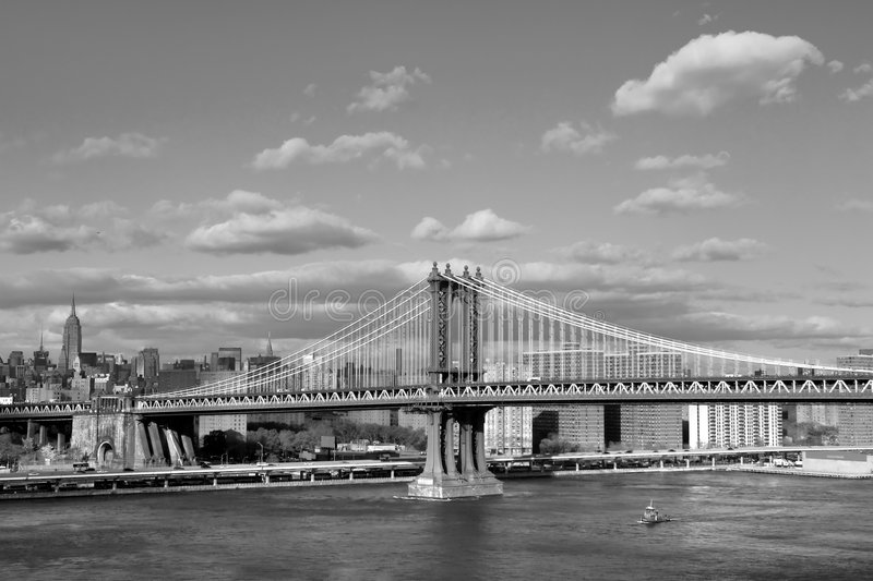 Download Manhattan bridge stock photo. Image of sepia, city, suspension - 5427180