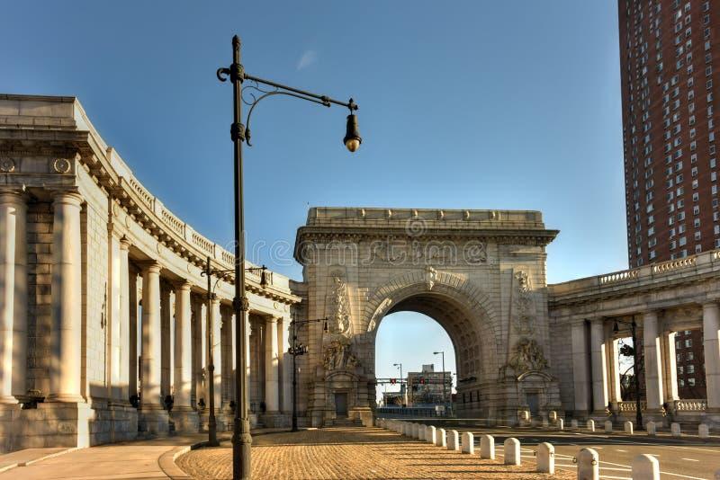 Manhattan Bridge Arch - New York, USA royalty free stock photo