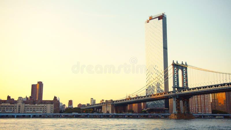 Manhattan Bridge in New York City stock photography