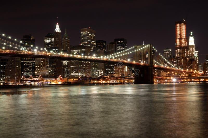 Download Manhattan Bridge at Night stock image. Image of night - 11820333