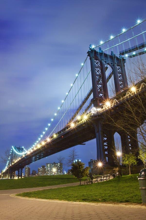 Download Manhattan Bridge At Night stock image. Image of business - 19421907