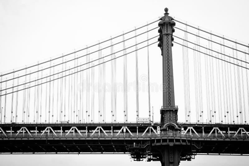 The Manhattan Bridge, seen from DUMBO, in Brooklyn, New York City.  stock photos